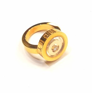 """Chopard BEAUITFUL!!! Chopard """"Happy Spirit"""" Double Round Ring with Moving Diamond 18 Karat Yellow Gold 1 Round Diamond weighing 0.10 carat total weight Size: 6.25 100% Authentic Guaranteed!! Comes with Original Box, Outer Box, and Paperwork!!"""
