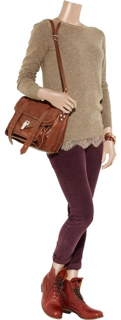 Preload https://img-static.tradesy.com/item/24314704/clu-lace-trimmed-wool-blend-brown-sweater-0-1-650-650.jpg