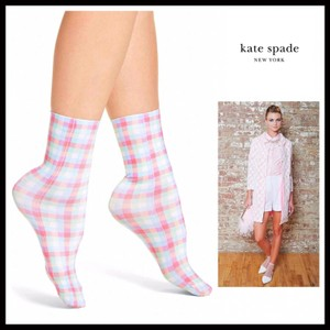 Kate Spade KATE SPADE SIGNATURE PLAID TROUSER ANKLE SOCKS