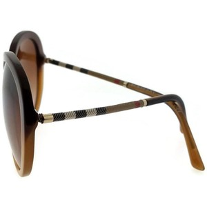 Burberry BE4239Q-336913 Round Women's Brown Frame Brown Lens Sunglasses