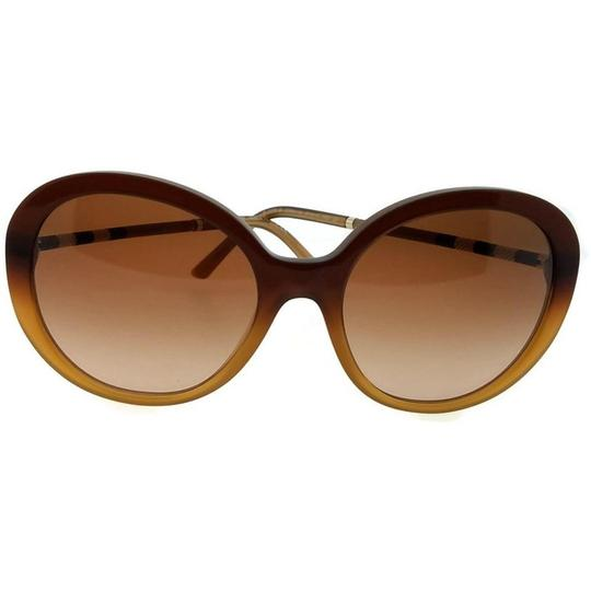 Burberry BE4239Q-336913 Round Women's Brown Frame Brown Lens Sunglasses Image 1