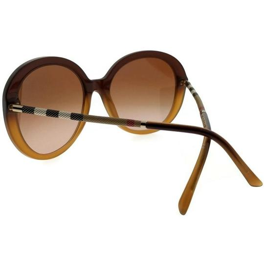 Burberry BE4239Q-336913 Round Women's Brown Frame Brown Lens Sunglasses Image 2