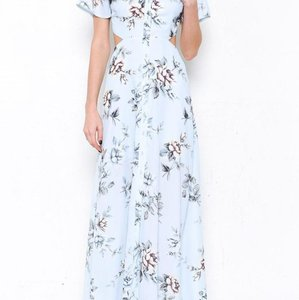Baby Blue Maxi Dress by L'ATISTE