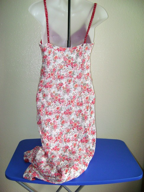Red/White Maxi Dress by Newport News Sundress Flowered Image 1