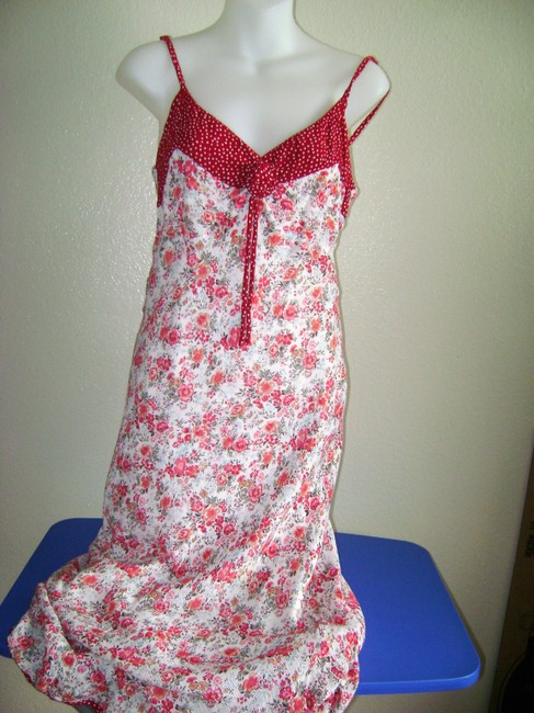 Red/White Maxi Dress by Newport News Sundress Flowered Image 2