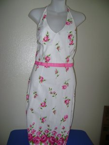 Pink/White Maxi Dress by Speechless Halter Flowers Party