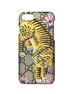 Gucci Tiger Logo GG Monogram Canvas iPhone 6 Case