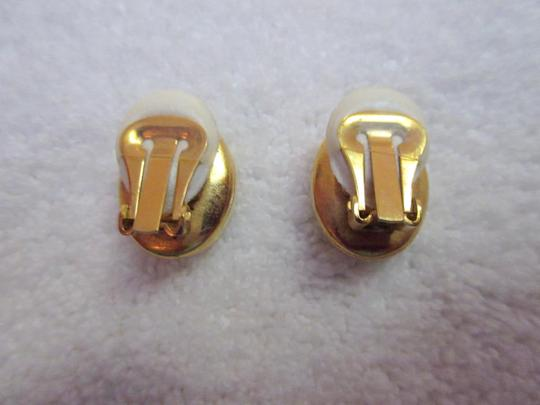Other Catherine Prevost Gold Plated Clip Earrings Amethyst Glass Crystal Image 9