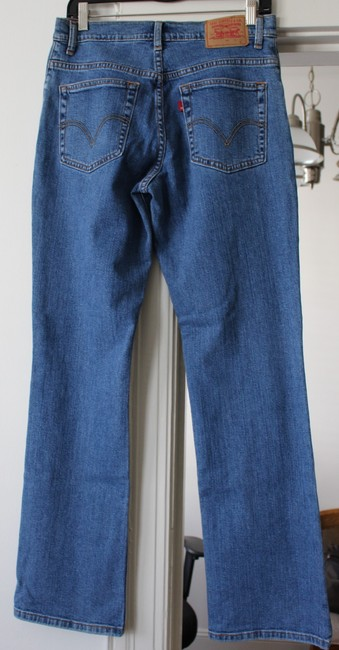 Levi's 501 Relaxed Prewash Boot Cut Jeans-Medium Wash Image 1