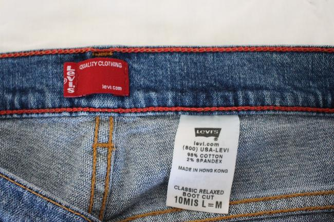 Levi's 501 Relaxed Prewash Boot Cut Jeans-Medium Wash Image 7