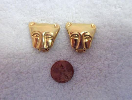 Other MMA NY Museum Clip Earrings Ancient Cat Leopard Jaguar Head Image 10