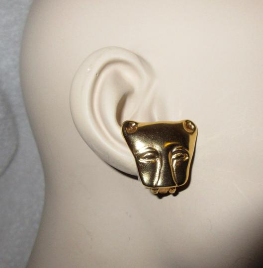Other MMA NY Museum Clip Earrings Ancient Cat Leopard Jaguar Head Image 2