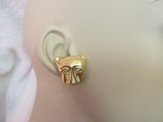 Other MMA NY Museum Clip Earrings Ancient Cat Leopard Jaguar Head Image 3