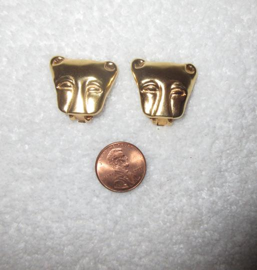 Other MMA NY Museum Clip Earrings Ancient Cat Leopard Jaguar Head Image 5