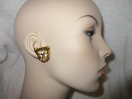 Other MMA NY Museum Clip Earrings Ancient Cat Leopard Jaguar Head Image 8