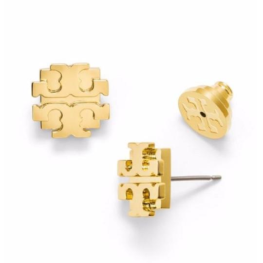 Tory Burch small t logo stud earrings Image 2