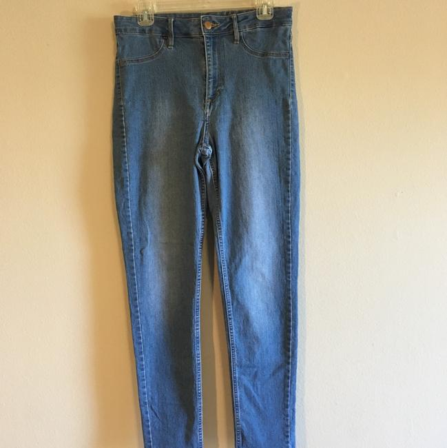 H&M High Rise Highwaisted Ankle Stretchy Skinny Jeans-Medium Wash Image 1