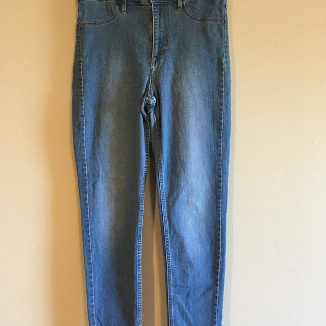 H&M High Rise Highwaisted Ankle Stretchy Skinny Jeans-Medium Wash Image 2
