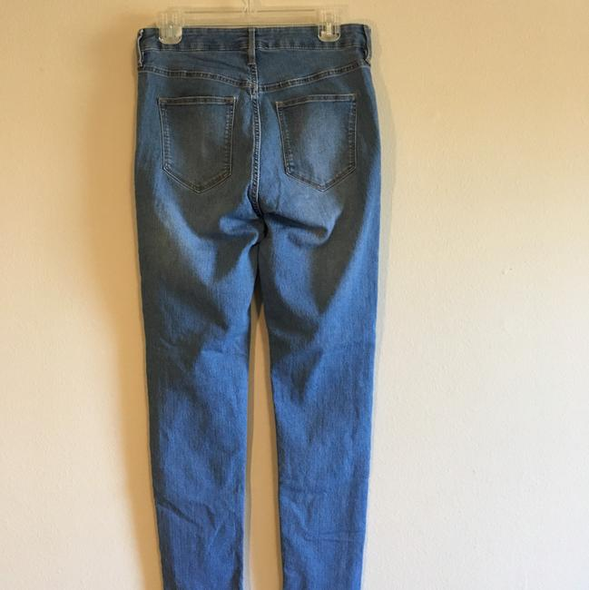 H&M High Rise Highwaisted Ankle Stretchy Skinny Jeans-Medium Wash Image 4