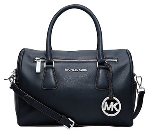 Michael Kors Leather; Guaranteed Your Money Back Satchel in Navy