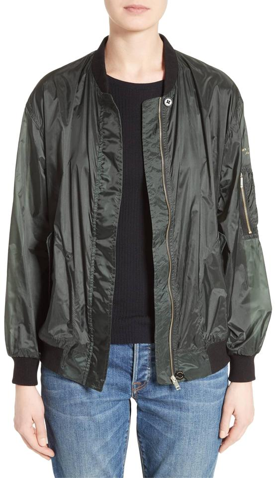 d3f8a54bc3 Burberry Green Mayther Technical Bomber Windbreaker Nylon Vintage ...