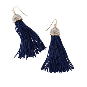 Lilly Pulitzer LILLY PULITZER WOMEN'S MIDNIGHT TASSEL EARRINGS
