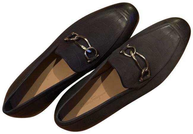 Item - Dark Blue Pebble Boy Loafers Men Flats Size US 9 Extra Wide (Ww, Ee)