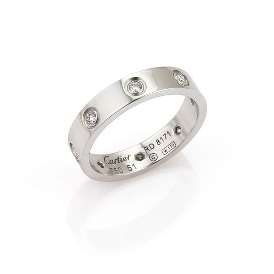 Cartier Cartier Mini Love 8 Diamond 18k White Gold Band Ring Image 0