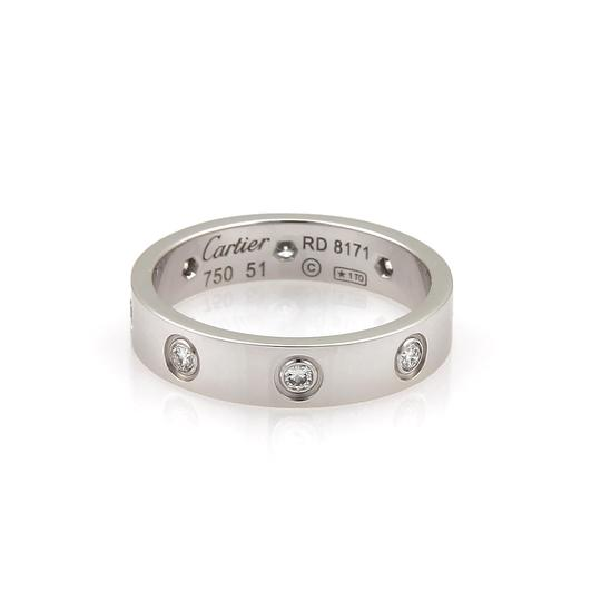 Cartier Cartier Mini Love 8 Diamond 18k White Gold Band Ring Image 1