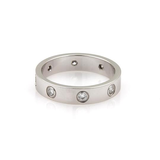 Cartier Cartier Mini Love 8 Diamond 18k White Gold Band Ring Image 2