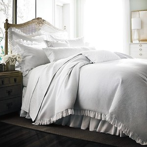 Bloomingdale's White 1872 Pique Duvet Comforter Cover Full / Queen Other