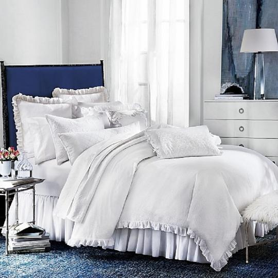 Bloomingdale's White 1872 Pique Duvet Comforter Cover Full / Queen Other Image 1