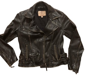 Wilsons Leather faded black Leather Jacket