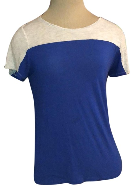 Preload https://img-static.tradesy.com/item/24315492/vince-camuto-royal-blue-and-gray-colorblock-tee-tunic-size-4-s-0-3-650-650.jpg