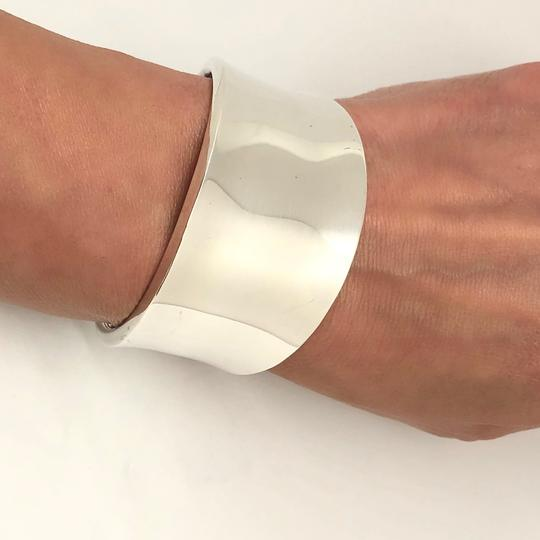 Robert Lee Morris RARE. Unisex. MADE IN THE USA Classic Wide Sterling Silver Cuff Image 1