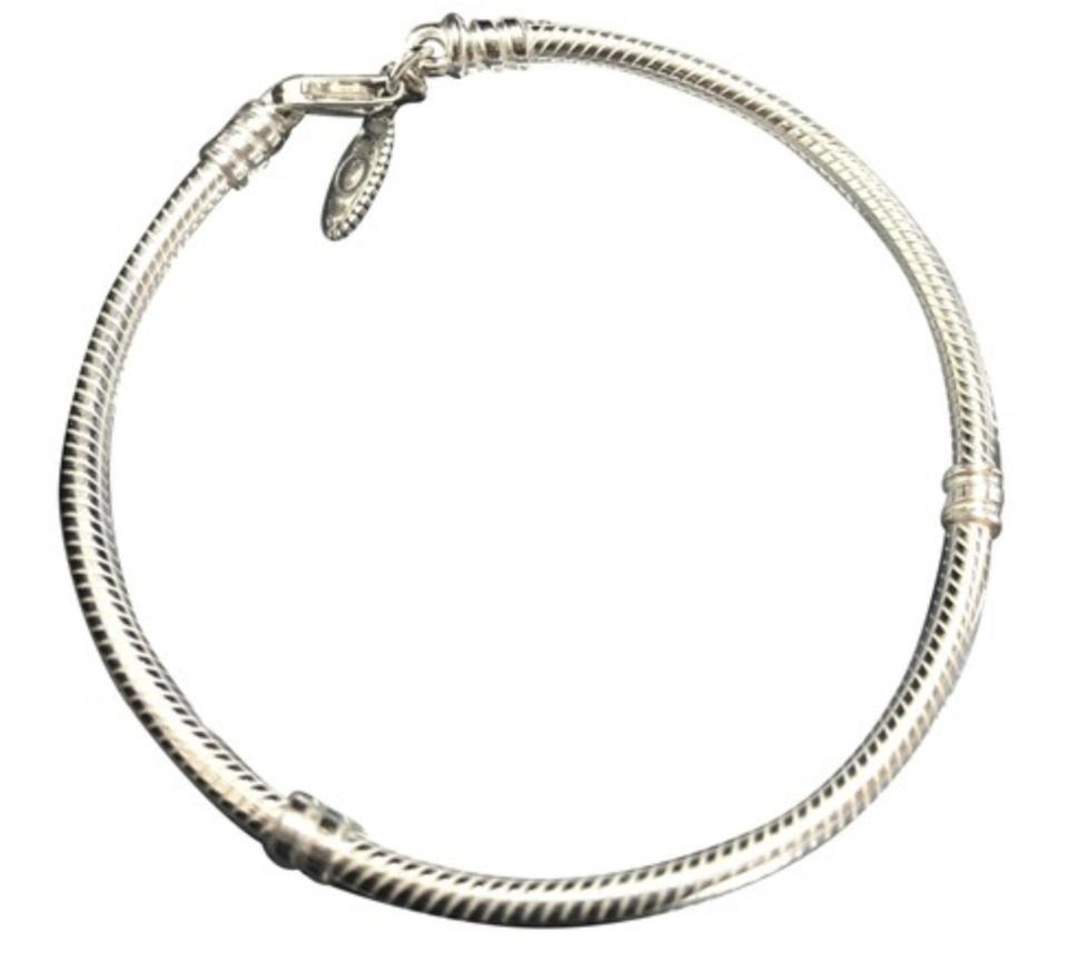 Pandora Sterling Silver Lobster Clasp Bracelet 7 9 Inches