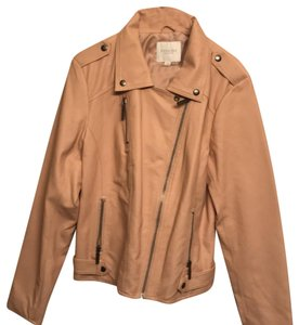 Piperlime Beige Leather Jacket