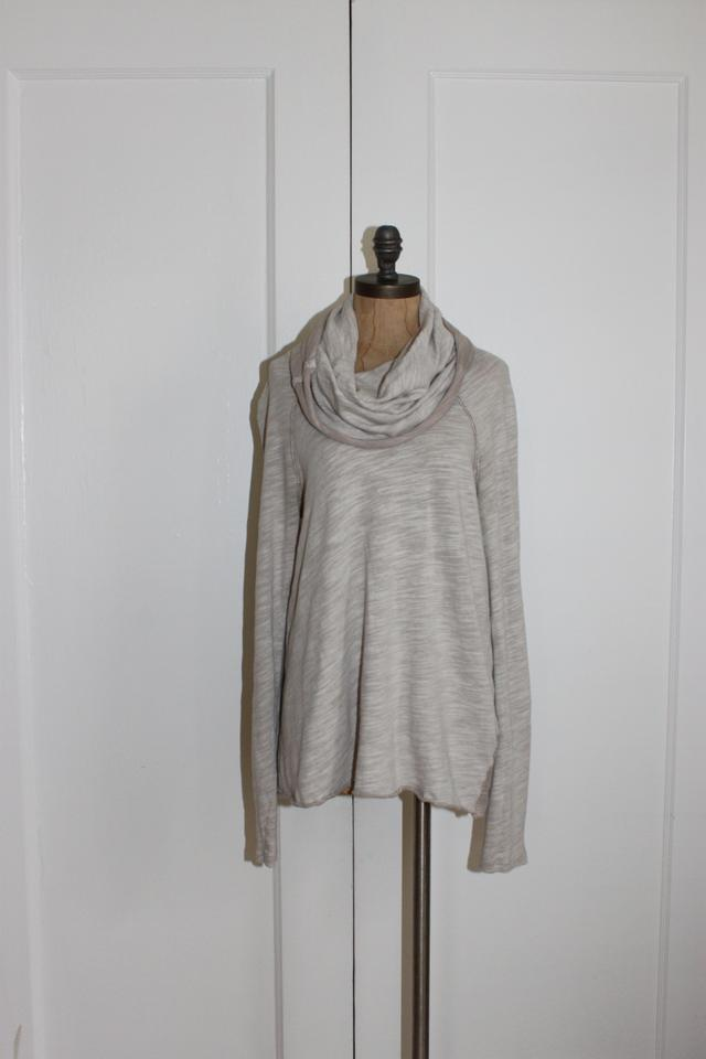 215050c05a Free People Cocoon Fp Beach Cowl Neck Beige Sweater - Tradesy