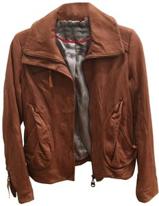 DOMA Camel Leather Jacket