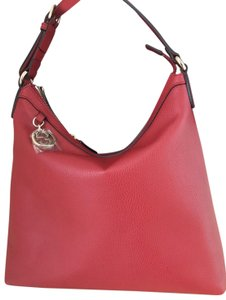 519214be5f8 Gucci Leather Hobo Gg Charm Tote in Red 12.75