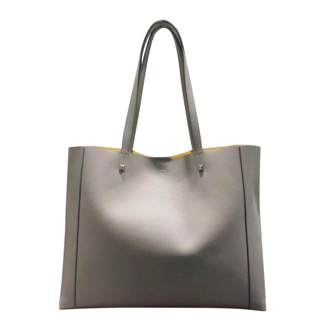 Item - Grey Leather Tote