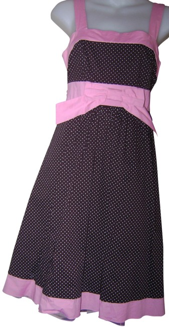 Item - Brown/Pink 5 Mid-length Short Casual Dress Size 4 (S)