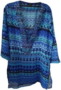 Raviya Beaded Tie Top Blue