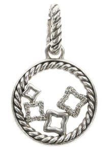 David Yurman Diamond Quatrefoil Pendant