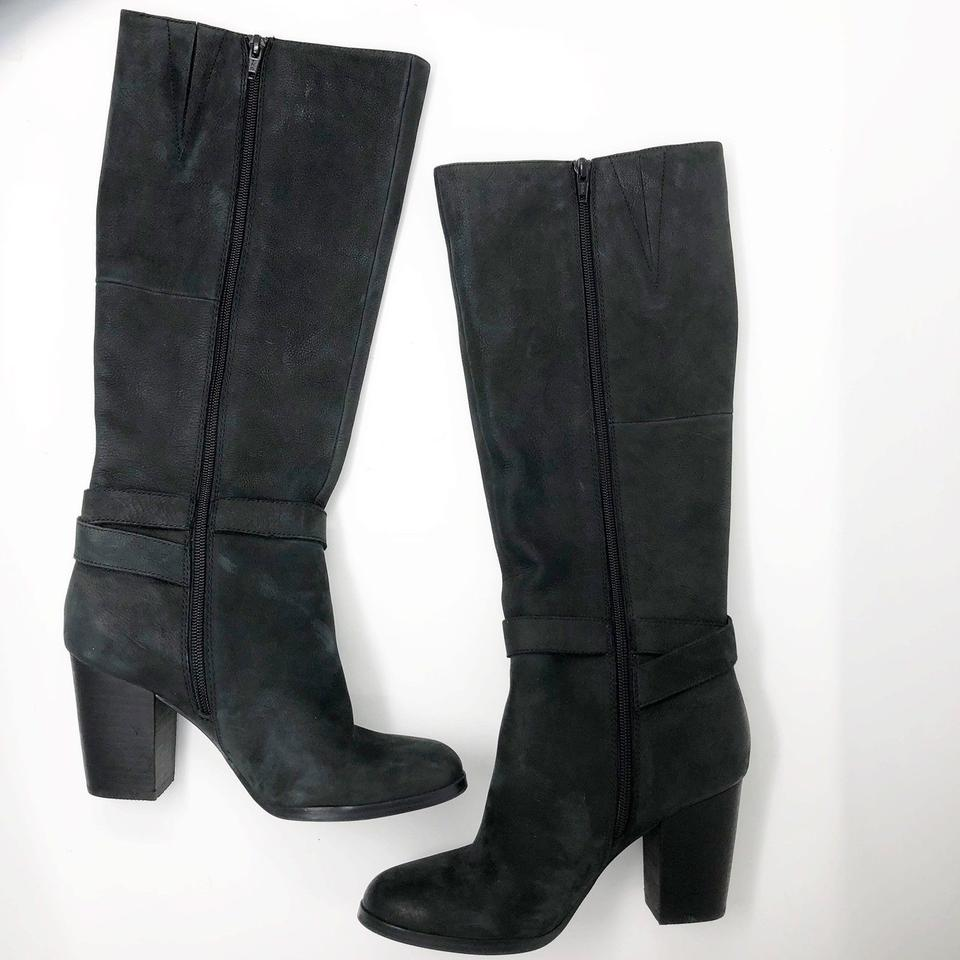 c8b450961 ALDO Black Chunky Heel Knot Detail Silver Buckle Tall Boots/Booties ...