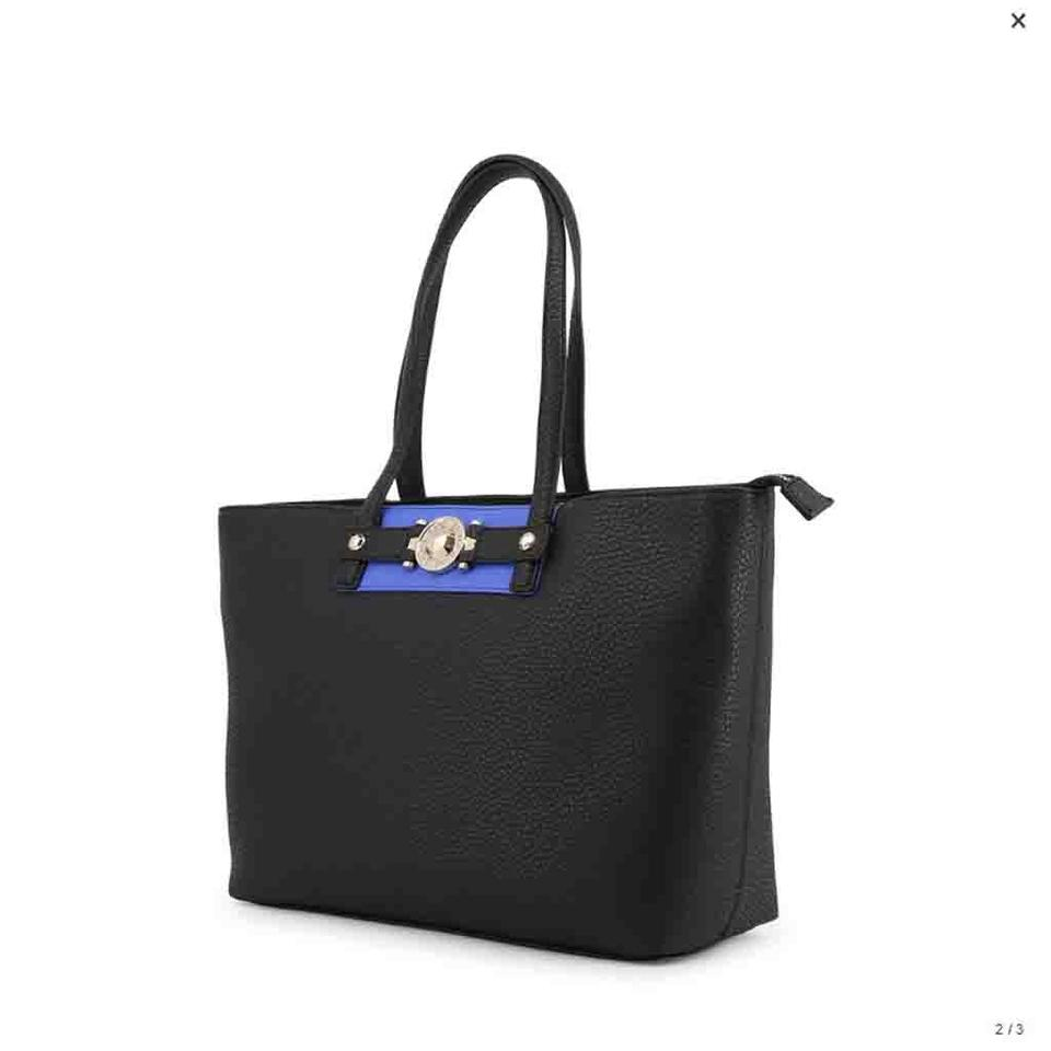 5ccb9ee5ae Versace Jeans Collection Shopping Bag Black Faux Leather Tote - Tradesy