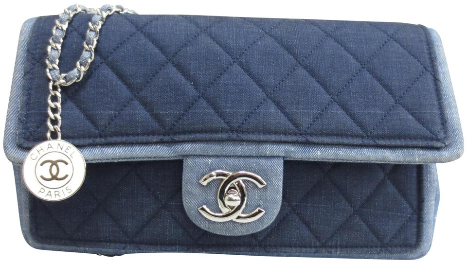 Chanel Classic Flap Médallion Quilted Blue Denim Shoulder Bag - Tradesy f45c8f6f9c
