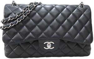 Chanel Lambskin Jumbo Double Flap Shoulder Bag