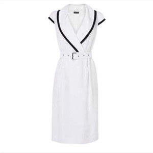 Jaeger short dress White/Black on Tradesy