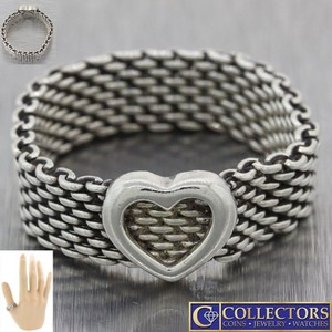 Tiffany & Co. Tiffany & Co. Sterling Silver Somerset Mesh Open Heart 6mm Ring